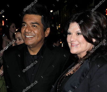 George Lopez,Ann Lopez George Lopez, left, and wife Ann arrive at the premiere of Valentine's Day, in Los Angeles