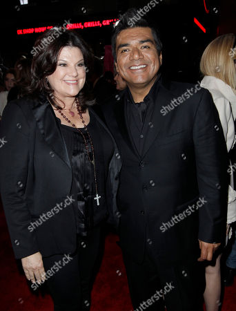 George Lopez,Ann Lopez George Lopez, right, and wife Ann arrive at the premiere of Valentine's Day, in Los Angeles