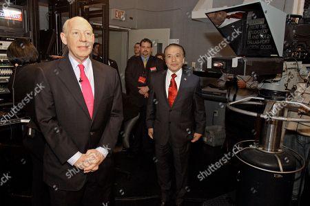 Farouk Shami, Bill White Democratic gubernatorial businessman Farouk Shami, right, and former Houston Mayor Bill White in Fort Worth, Texas