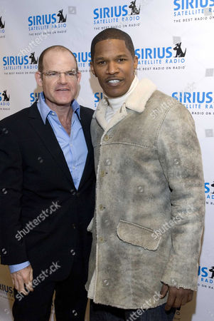 Sirius CEO Scott Greenstein and Jamie Foxx.