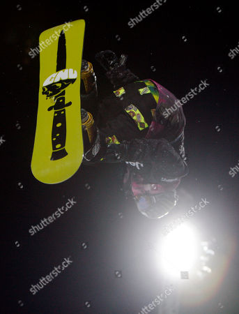 Stock Image of Danny Kass Danny Kass, of Portland, Ore., competes during the snowboard superpipe men's elimination round at the Winter X Games at Buttermilk Mountain outside Aspen, Colo., on