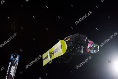 Stock Photo of Danny Kass Danny Kass of Portland, Ore., competes during the snowboard superpipe mens elimination round at the Winter X Games at Buttermilk Mountain outside Aspen, Colo., on