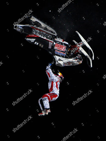 Levi LaVallee Levi LaVallee of Longville, Minn., competes during the snowmobile best trick final round at the Winter X Games at Buttermilk Mountain outside Aspen, Colo., on