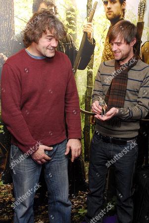 Gordon Kennedy and Jonas Armstrong promoting the Robin Hood toy range