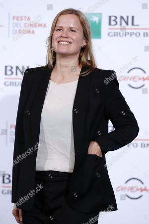 """Selma Vilhunen Director Selma Vilhunen poses for photographers during the photo call of the movie """"Little Wing"""", in Rome"""