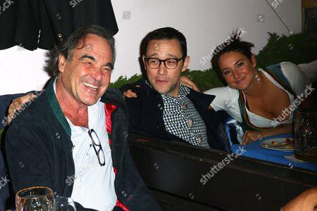 Stock Photo of Oliver Stone, Joseph Gordon-Levitt, Florine Elena Deplazes