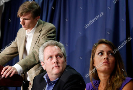 Hannah Giles, Andrew Breitbart, James O'Keefe Andrew Breitbart, center, flanked by James O'Keefe III, left, and Hannah Giles takes part in a news conference, at the National Press Club in Washington