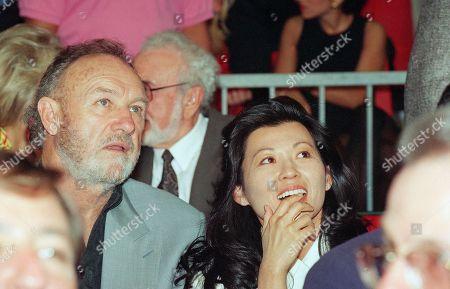 Gene Hackman, Betsy Arakawa Actor Gene Hackman with wife Betsy Arakawa in June 1993