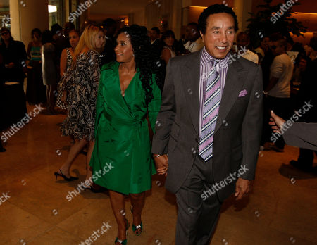 Smokey Robinson, Frances Gladney Smokey Robinson and Frances Gladney arrive at the ASCAP Rhythm & Soul Music Awards on in Beverly Hills, Calif