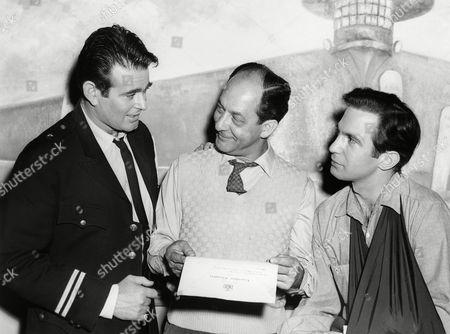 Editorial photo of Ben Gazzara with John Resko, Stuart Whitman, USA
