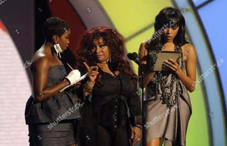 Estelle, Chaka Khan, LaToya Luckett From left, Estelle, Chaka Khan and LaToya Luckett on stage at the 9th Annual BET Awards, in Los Angeles
