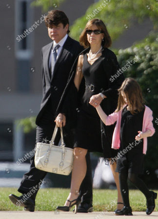 Rod Blagojevich, Patty Balgojevich, Annie Blagojevich Ousted Illinois Gov., Rod Blagojevich, his wife Patty and daughter Annie arrive for the funeral of Christopher Kelly, his former chief fundraiser, in Western Springs, Ill. Kelly died Saturday, Sept. 12 of a suspected overdose, less than a week after he was due to enter prison to begin serving a three-year sentence for tax fraud