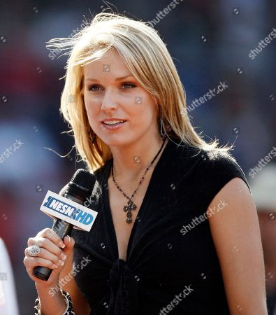 Heidi Watne New England Sports Network reporter Heidi Watney reports from the field during the Boston Red Sox baseball game against the Toronto Blue Jays at Fenway Park in Boston