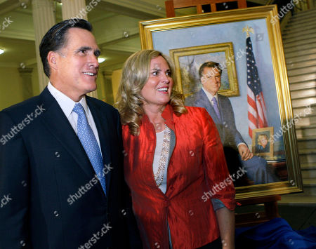 "Mitt Romney, Ann Romney Former Massachusetts Gov. Mitt Romney and his wife, Ann, greet guests after his official portrait is unveiled during a ceremony on the Grand Staircase at the Statehouse in Boston. Romney's portrait was painted by New Hampshire artist Richard Whitney for $30,000 in private donations and will hang in the lobby of the third-floor Governor's Office. To the yearbook editors at the all-girl Kingswood School, Ann Lois Davies' destiny seemed pretty obvious. ""The first lady,"" the entry beside the stunning blond beauty's photo in the 1967 edition of ""Woodwinds"" concluded. ""Quiet and soft spoken."" The modern feminist movement was just dawning, and even some of the girls at the staid prep school in the wealthy Detroit suburb of Bloomfield Hills were feeling their oats _ if in a somewhat tame way. Charlon McMath Hibbard remembers getting a doctor's note about her feet, so she wouldn't have to wear the obligatory saddle Oxfords"