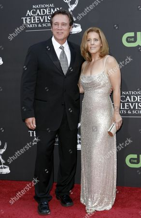 Stock Image of Frank Dicopoulos, Elizabeth Keifer Frank Dicopoulos and Elizabeth Keifer arrive at the Daytime Emmy Awards, in Los Angeles