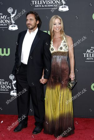 Thorsten Kay, Susan Haskell Thorsten Kaye and Suan Haskell arrive at the Daytime Emmy Awards, in Los Angeles