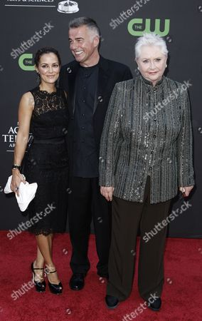 Susan Flannery, Ian Buchanan, Rebecca Budig Susan Flannery, left, Ian Buchanan and Rebecca Budig arrive at the Daytime Emmy Awards, in Los Angeles