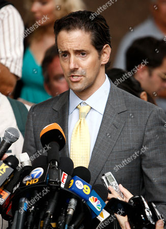 Eric George Eric George, attorney for Debbie Rowe, speaks to the media outside the Stanley Mosk Courthouse, in Los Angeles