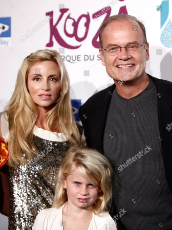 Stock Picture of Kelsey Grammer, Camille Donatacci, Mason Olivia Grammer Kelsey Grammer, right, Camille Donatacci, left, and their daughter, Mason Olivia Grammer, arrive for the Opening Night Gala for KOOZA, the big top touring show from Cirque du Soleil, in Santa Monica, Calif. on