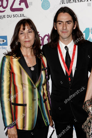 Stock Photo of Olivia Trinidad Arias, Dhani Harrison Olivia Trinidad Arias, left, andDhani Harrison arrive for the Opening Night Gala for KOOZA, the big top touring show from Cirque du Soleil, in Santa Monica, Calif. on