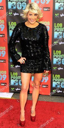 """Shayne Lamas Shayne Lamas arrives at the """"Los Premios MTV 2009"""", at the Gibson Amphitheatre in Universal City, Calif"""