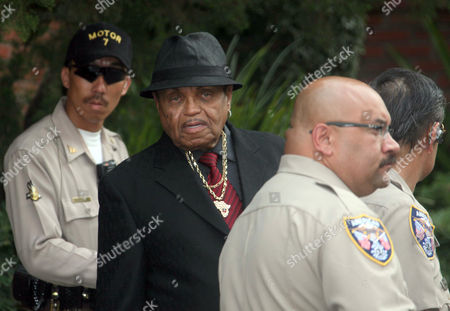 Joe Jackson Michael Jackson's father Joe Jackson, center, leaves the family residence in the Encino section of Los Angeles for his son's funeral, . Jackson is scheduled to be interred in the Great Mausoleum, where he will be joining Hollywood legends such as Clark Gable, Jean Harlow and W.C. Fields. Jackson died June 25