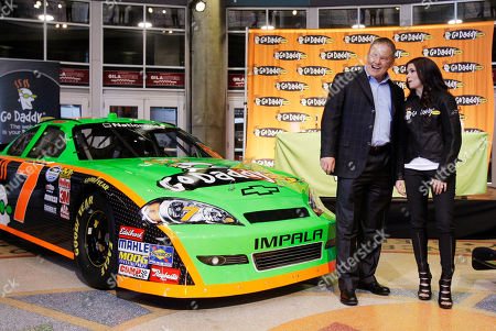 Danica Patrick IndyCar driver Danica Patrick, right, with Go Daddy CEO and founder Bob Parsons, unveils her GoDaddy.com No. 7 JR Motorsports stock car during an event announcing her intention to make her NASCAR debut next season, in Phoenix. Patrick has signed with JR Motorsports team, owned by Dale Earnhardt Jr. and Rick Hendrick, and intends to start in her first in an ARCA Series race on Feb. 6 at Daytona International Speedway