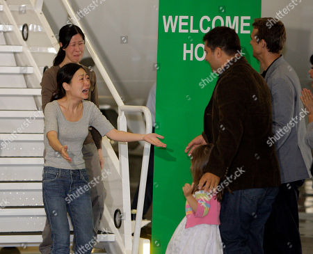 Editorial picture of NKorea Journalists Freed, Burbank, USA