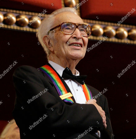 Stock Image of Dave Brubeck Kennedy Center honoree Dave Brubeck stands for the National Anthem at the Kennedy Center Honors gala in Washington. Brubeck, a pioneering jazz composer and pianist died of heart failure, after being stricken while on his way to a cardiology appointment with his son. He would have turned 92 on Thursday