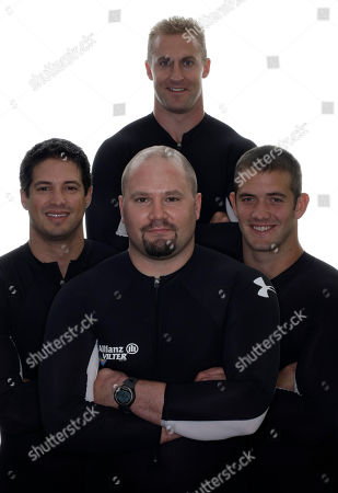 Curtis Tomasevicz, Justin Olsen, Steve Holcomb, Steve Mesler Clockwise, bobsled competitors Curtis Tomasevicz, Justin Olsen, Steve Holcomb and Steve Mesler pose for a portrait during the USOC Media Summit in Chicago