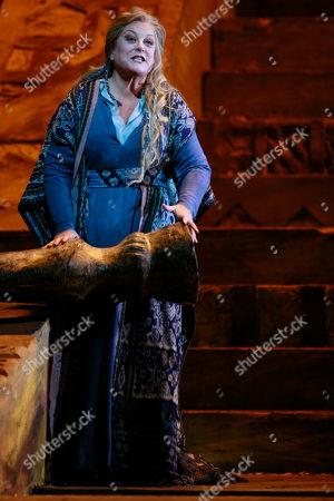 "Deborah Voigt performs as Chrysothemi during the final dress rehearsal of Richard Stauss' ""Elektra"" at the Metropolitan Opera in New York"