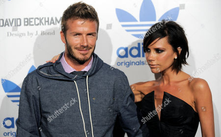 David Beckham, Victoria Beckham In this Sept, 30, 2009 photo, David Beckham, left, and his wife Victoria arrive at an event to celebrate the launch of the Adidas Originals by Originals David Beckham clothing line designed by James Bond, in Los Angeles. David Beckham and wife Victoria are expecting their fourth child, and a spokesman said Sunday that the couple has learned that it will be a girl. In January the former England captain announced via Facebook that his wife was due this summer. The pair, who married in 1999, already has three boys: 11-year-old Brooklyn, eight-year-old Romeo, and five-year-old Cruz