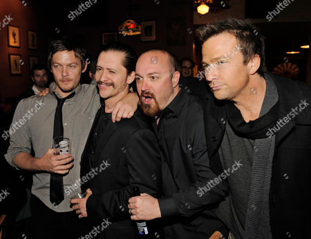 "Troy Duffy, Sean Patrick Flanery, Clifton Collins Jr., Norman Reedus Troy Duffy, second from right, writer/director of ""The Boondock Saints II: All Saints Day,"" poses with cast members, from left, Norman Reedus, Clifton Collins Jr. and Sean Patrick Flanery at the post-premiere party for the film in Los Angeles"