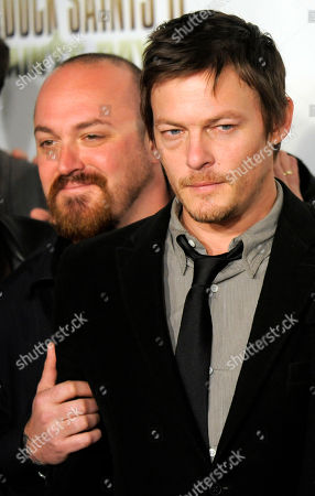 "Troy Duffy, Norman Reedus Troy Duffy, left, writer/director of ""The Boondock Saints II: All Saints Day,"" poses with cast member Norman Reedus at the premiere of the film in Los Angeles"