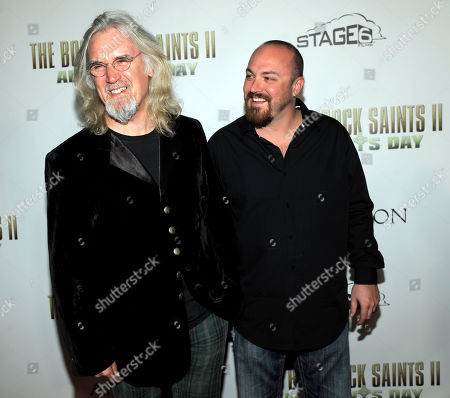 "Troy Duffy, Billy Connolly Troy Duffy, right, writer/director of ""The Boondock Saints II: All Saints Day,"" poses with cast member Billy Connolly at the premiere of the film in Los Angeles"