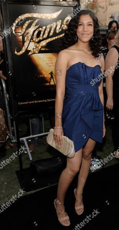 "Stock Picture of Kristy Florres Actress Kristy Flores arrives at the premiere of the film ""Fame"" in Los Angeles"