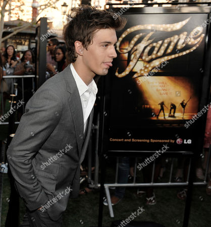 """Asher Book Asher Book, a cast member in the new film """"Fame,"""" arrives at the premiere of the film in Los Angeles"""