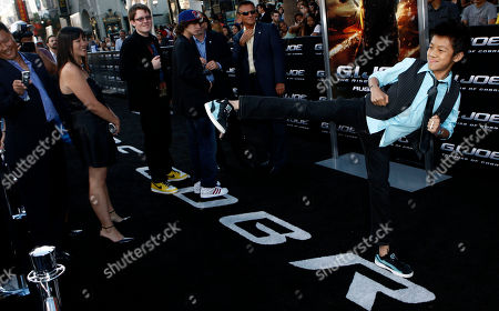 "Brandon Soo Hoo Cast member Brandon Soo Hoo arrives at the premiere of ""G.I. Joe"" in Los Angeles on"