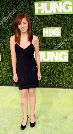 """Jolean Wejbe Actress Jolean Wejbe arrives at the premiere of the HBO series """"Hung"""" in Los Angeles"""