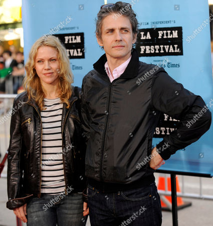"""Dean Wareham, Britta Phillips Dean Wareham and Britta Phillips arrive at the premiere of the film """"Paper Man"""" on the opening night of the Los Angeles Film Festival, in Los Angeles"""