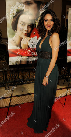 """Stock Photo of Millika Sherawat Millika Sherawat poses at the premiere of the film """"The Young Victoria"""" in Los Angeles, in Los Angeles"""
