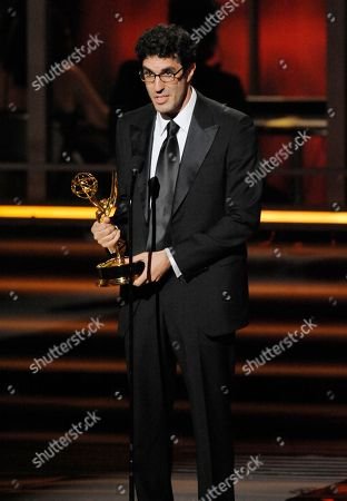 """Jeffrey Blitz Jeffrey Blitz of """"The Office,"""" accepts the award for outstanding directing for a comedy series at the 61st Primetime Emmy Awards, in Los Angeles"""