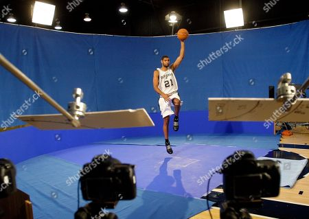 Tim Duncan San Antonio Spurs forward Tim Duncan poses for photos during the team's media day in San Antonio, . Duncan, hampered with knee problems last season, says he is looking forward to a healthy year