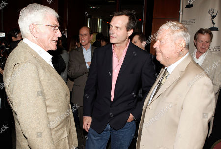"""Dick Van Patten, Dick Van Dyke, Bill Paxton Actors Dick Van Patten, right, Dick Van Dyke, left, and Bill Paxton speak to each other during the Academy of Television Arts and Sciences' """"A Father's Day Salute to TV Dads"""" in the North Hollywood section of Los Angeles on"""