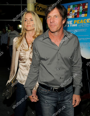 "Dennis Quaid, Kimberly Quaid Dennis Quaid and his wife Kimberly arrive at a benefit screening of The Nobelity Project's ""One Peace at a Time"" documentary, in Los Angeles"