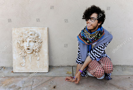 Stock Picture of Sliimy French singer Sliimy poses for a portrait in Los Angeles