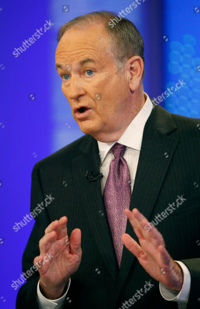 """Bill O'Reilly Bill O'Reilly is shown during a taping for Fox News channel's """"The O'Reilly Factor,"""" in New York"""