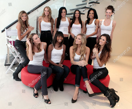 The ten finalists competing to be the next Victoria's Secret Runway Angel pose for photos in New York, .Top row, left to right are: Kylie Bisutti, 19, Simi Valley, Ca.; Krystina Holbrook, 20, El Dorado Hills, Ca.; Catharina Lee, 20, Washington, D.C.; Alicia Hall, 24, Las Vegas; Raven Ervin, 24, Birmingham, Al.; Courtney O'Conner, 20, Raleigh, N.C. Front row, left to right are: Allison Turner, 23, Cape Girardeau, Mo.; Katelyn Fortes, 18, Boston; Jamie Lee Darley, 23, Carmel, Ca.; Tika Iveaj, 25, Detroit