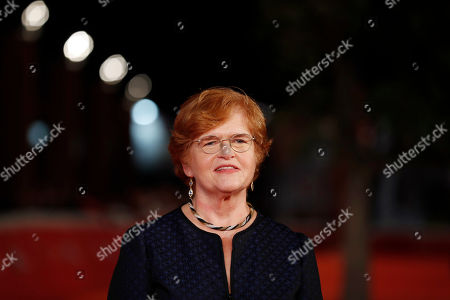 American historian and author Deborah Lipstadt poses for photographer on the red carpet on the occasion of the screening of the movie ' Denial ' at the Rome Film festival in Rome