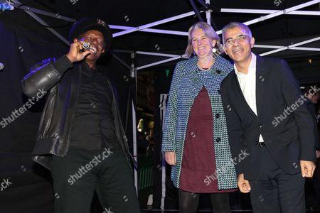 Eddy Grant, Councillor Lib Peck (Leader of Leader of Lambeth Council) and Sadiq Khan